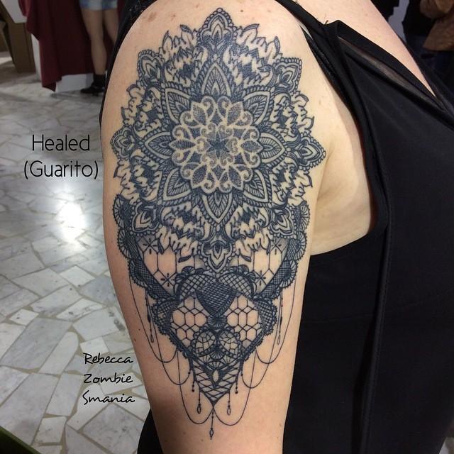 Baroque Mandala Shoulder tattoo