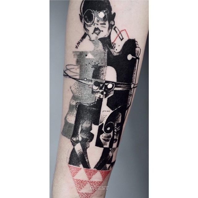 Cubism Arm tattoo