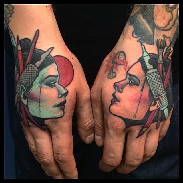 Hair-Dresser Hand Tattoos