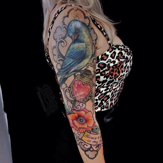 Loving Blue Bird tattoo