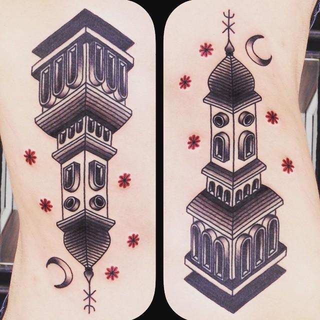 Night Church Body tattoo