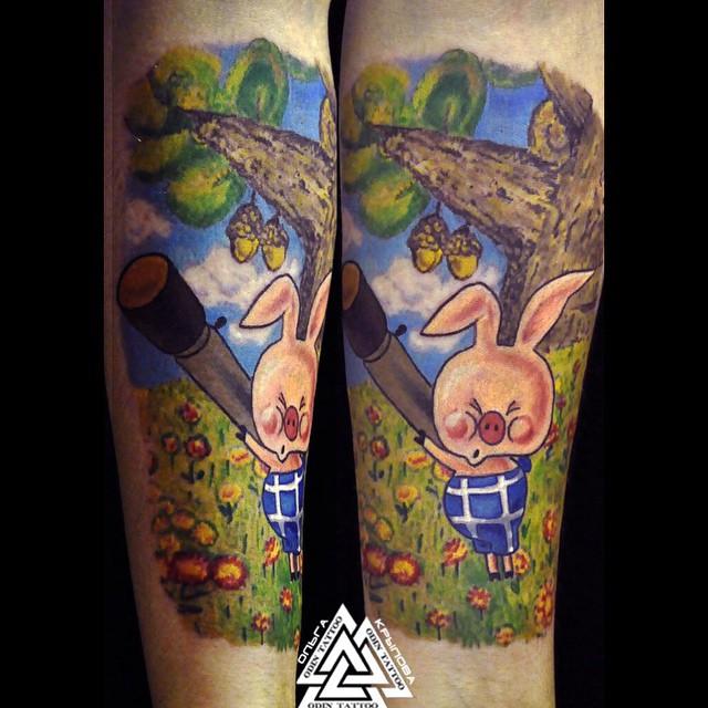 Pyatachok Rifle Pig tattoo