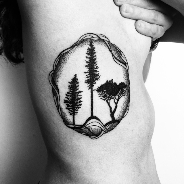 Sphere of Nature tattoo on Body Side
