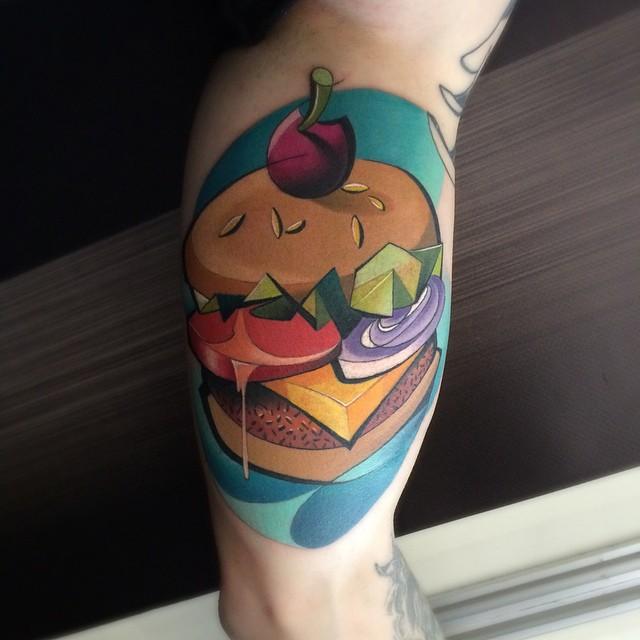 Tasty Hamburger tattoo