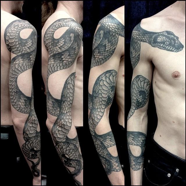 Tattoo Sleeve Snake