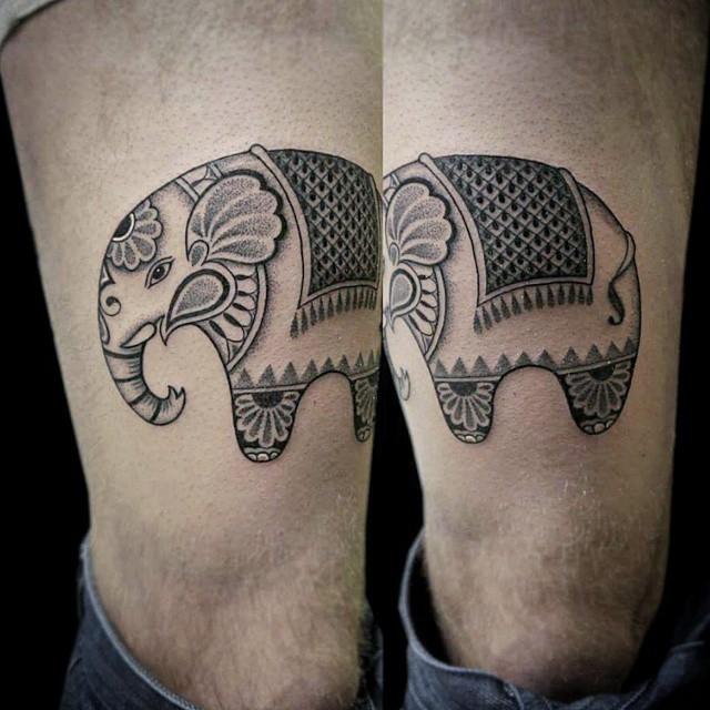 Tiny Circus Elephant tattoo