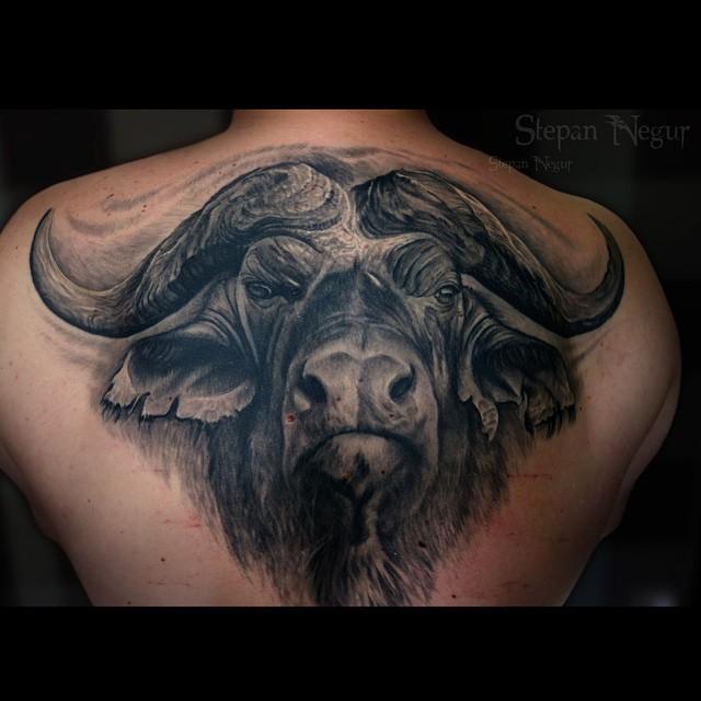 Wonderfull Angry Bull tattoo