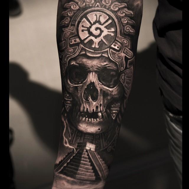 Aztec Cheif Tattoo