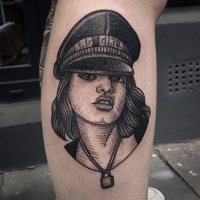 Etching Bad Girls Tattoo