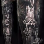 Extinguished Candle Tattoo Sleeve