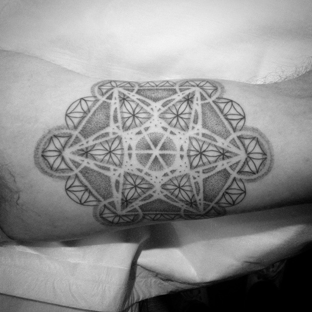 Flower of Life Tattoo on Arm