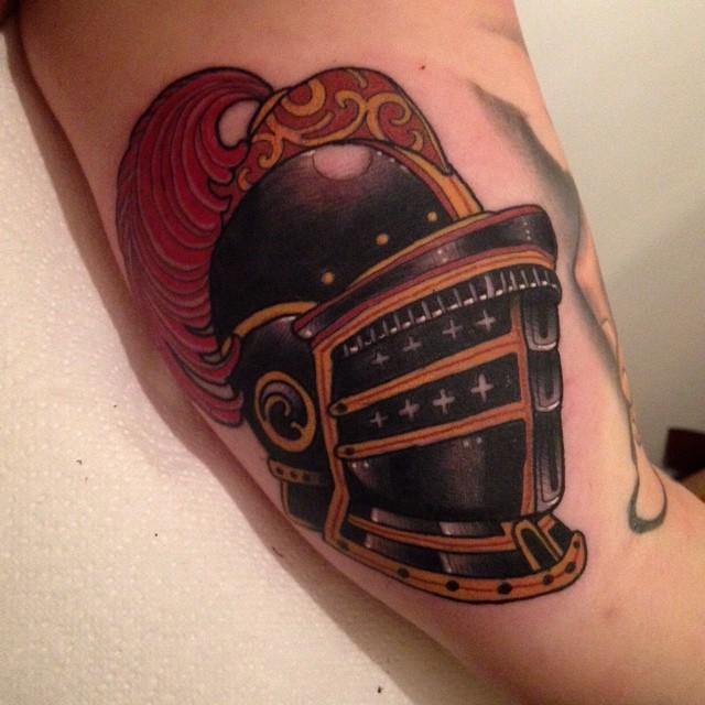 Helmet of Dark Knight Tattoo