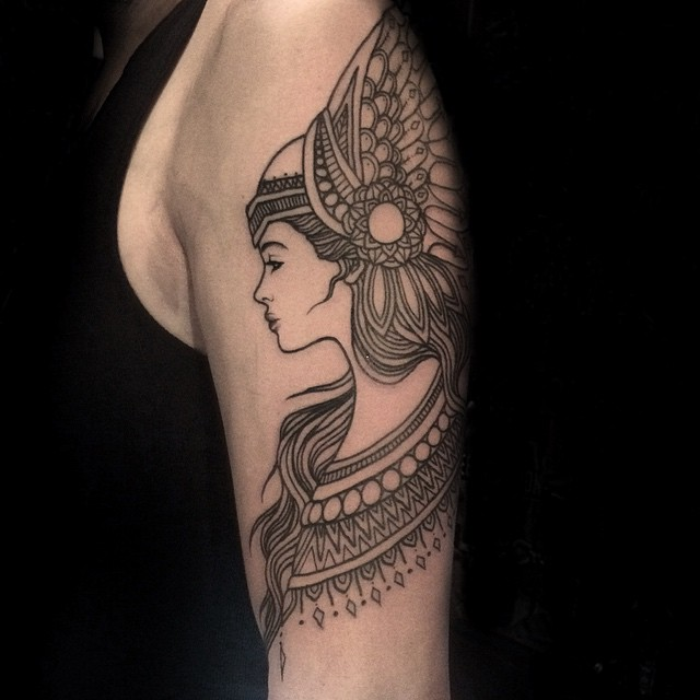 Mehendi Vakyrie tattoo on Shoulder