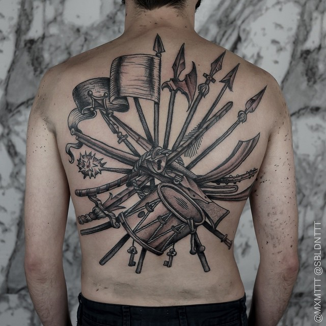 No Warfare Lock Tattoo