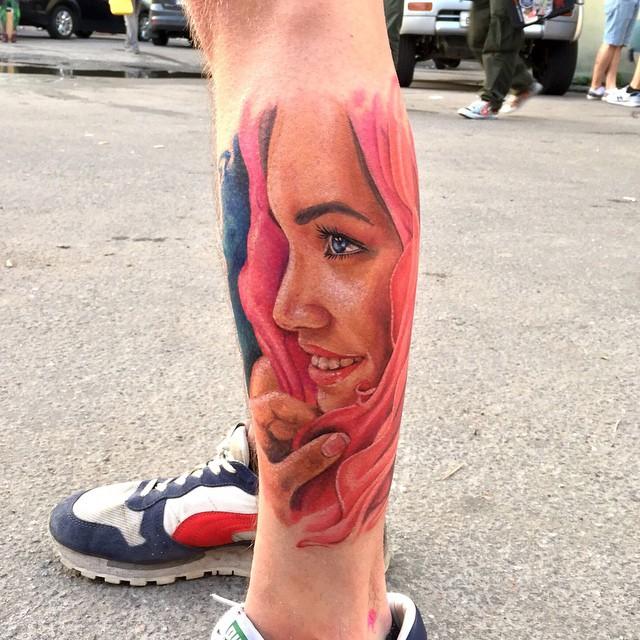 Pink Hoody Girl Tattoo