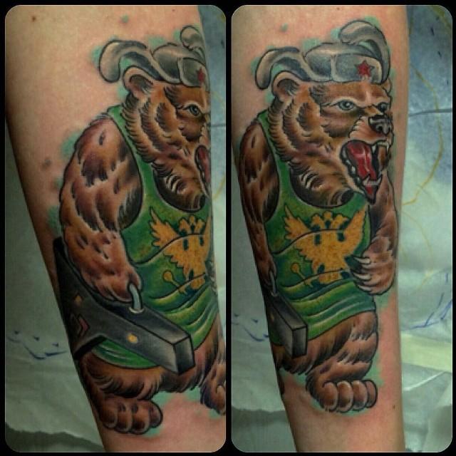 Russian Bear tattoo
