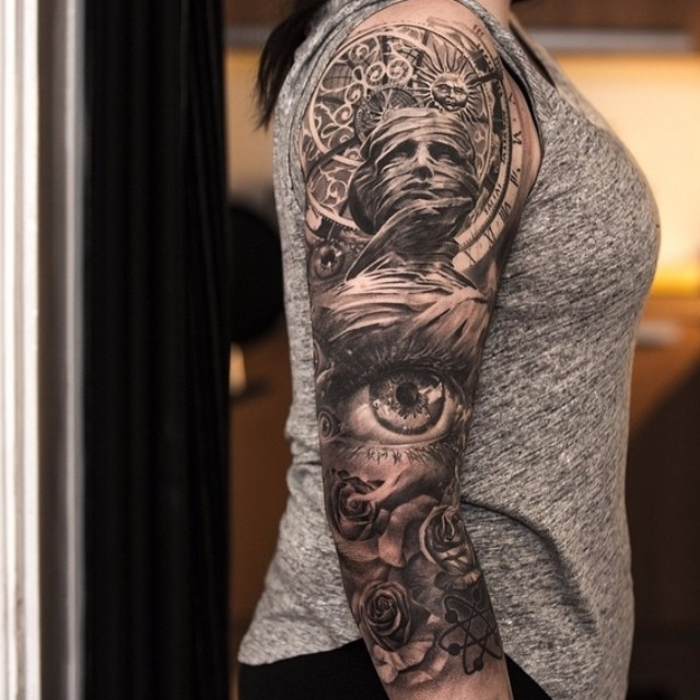 Shoulder Sleeve Tattoo