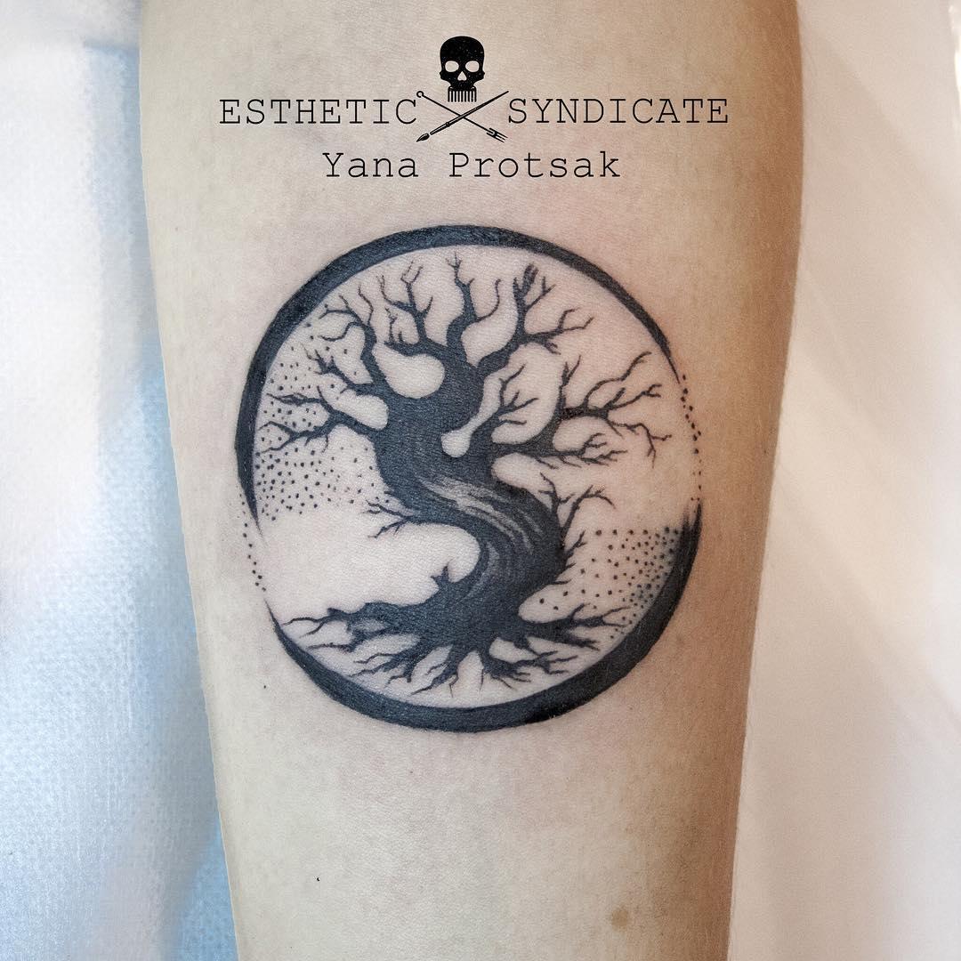 Circle Tree Tattoo