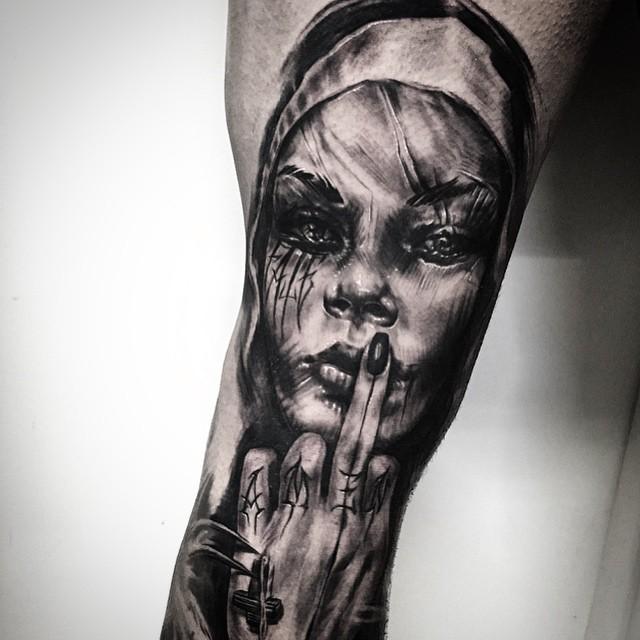 Fate Amen Religious Tattoo