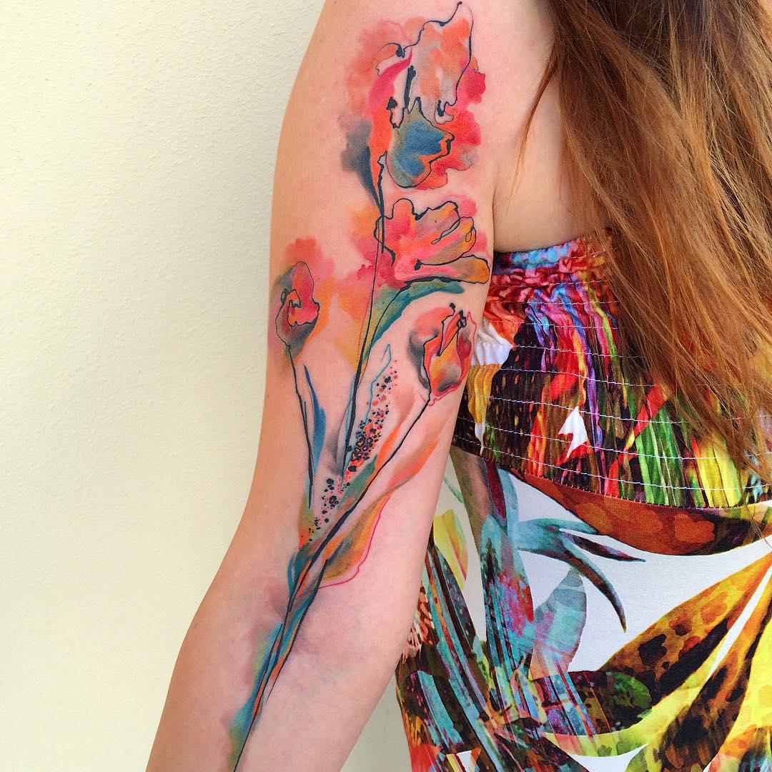 Flower Arm Tattoos