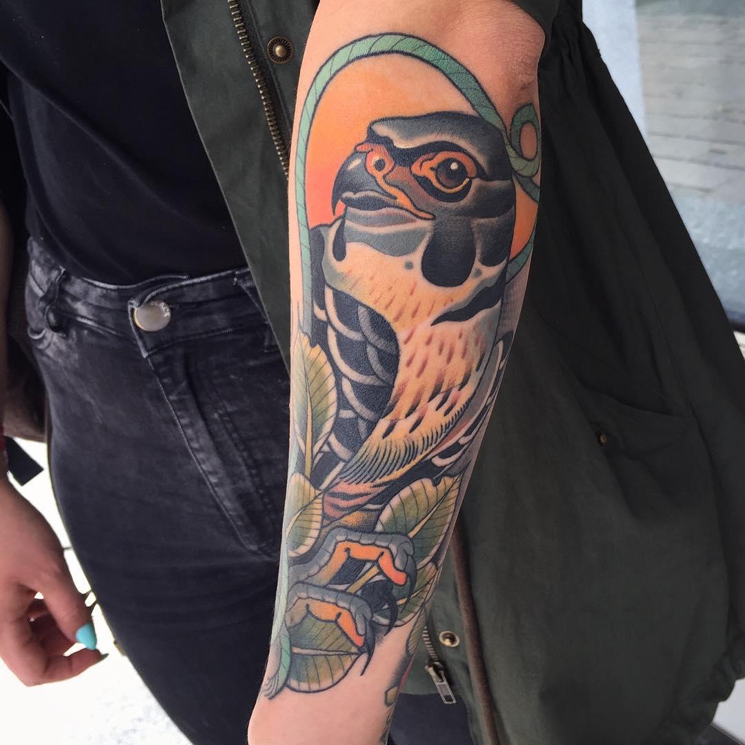 Great Hawk Tattoo on Arm