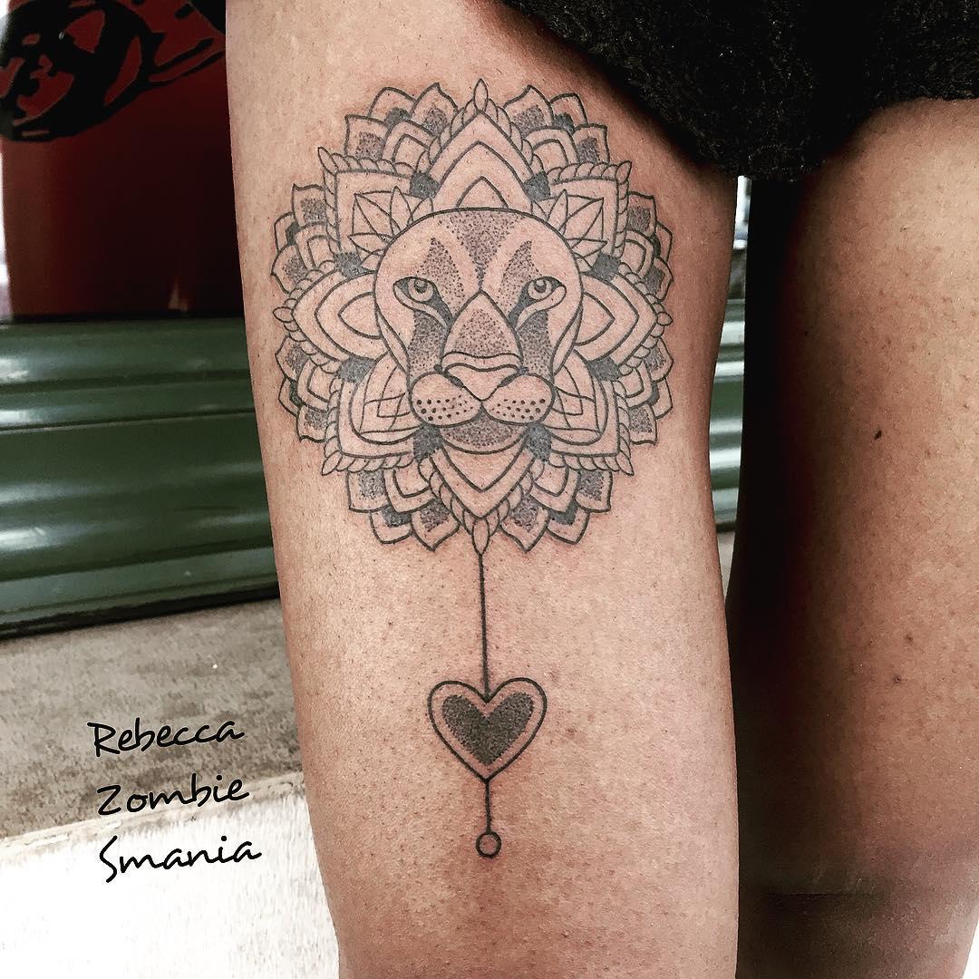 Heart of a Lion Tattoo