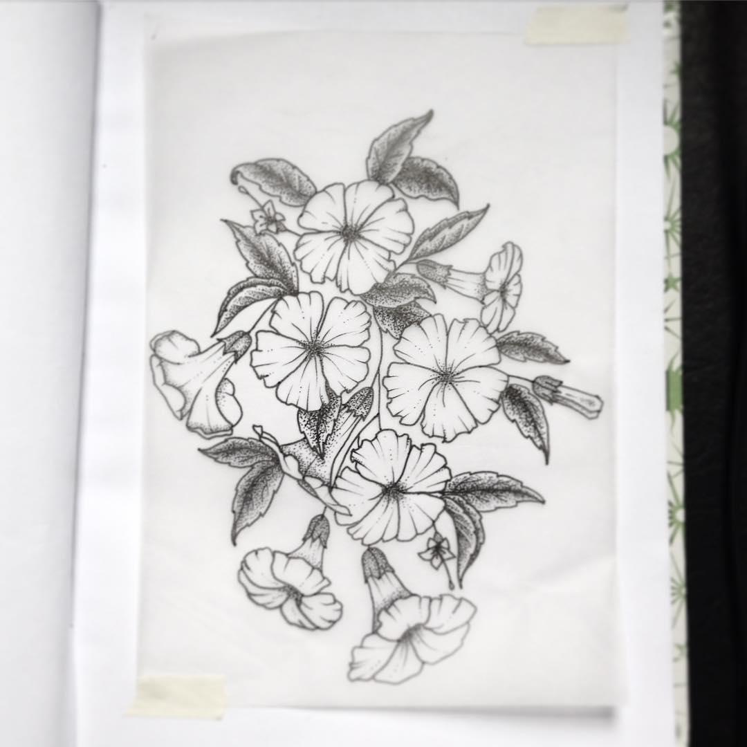 Moonflower Tattoo Design