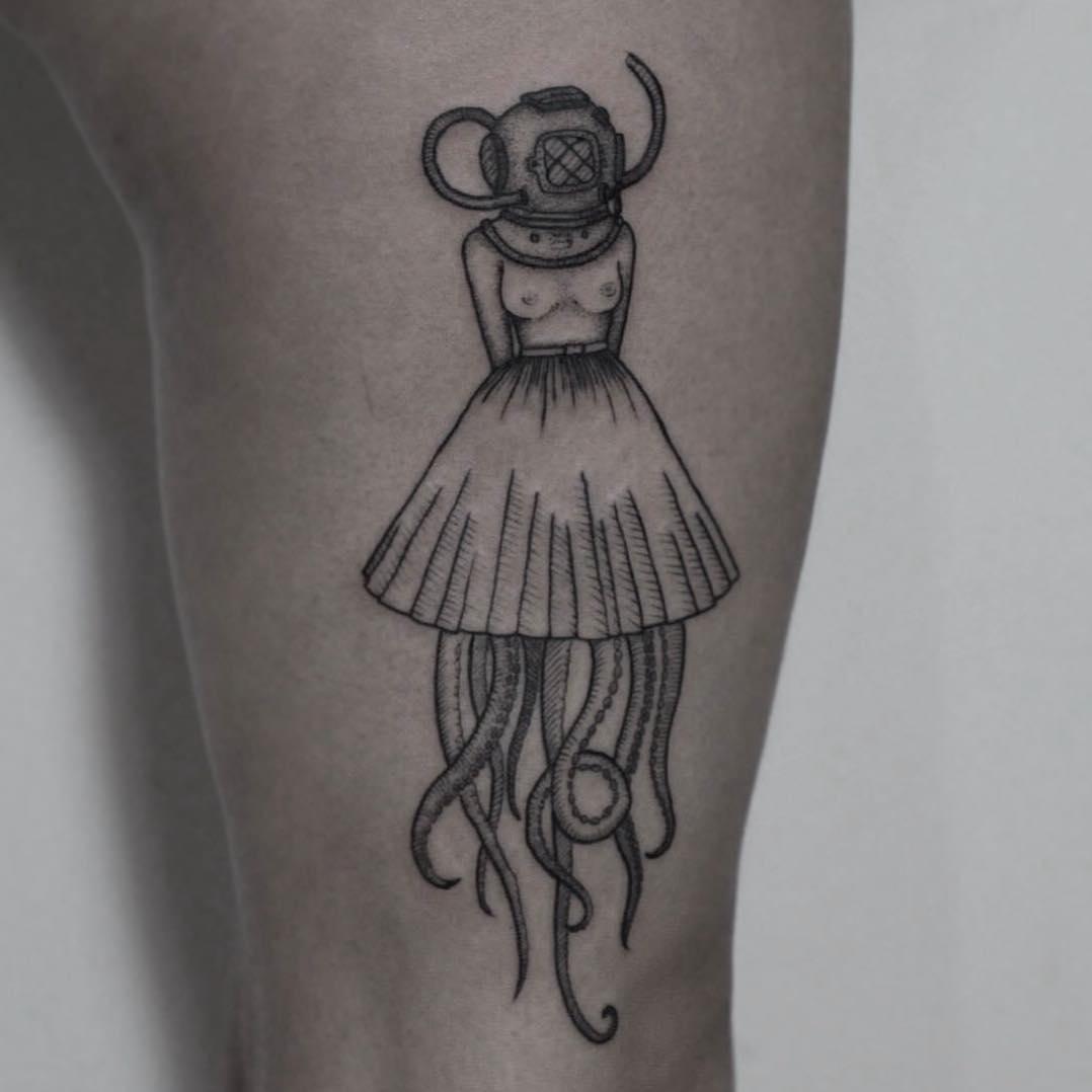 Octo Girl Tattoo