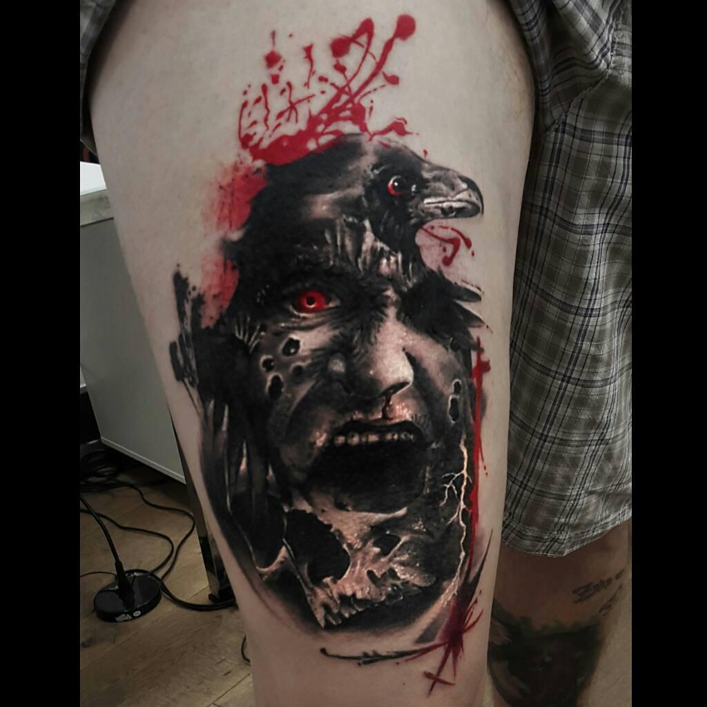 Raven Warlock Tattoo