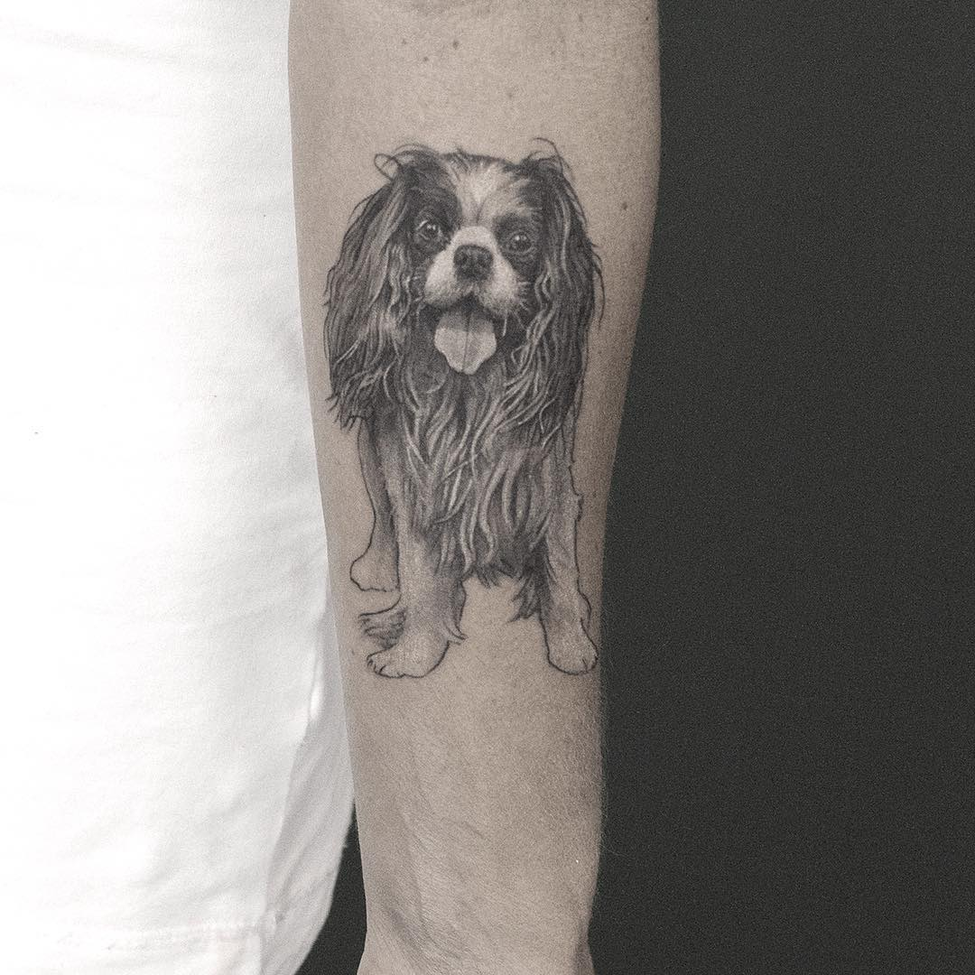 Realistic Graphic Dog Tattoo