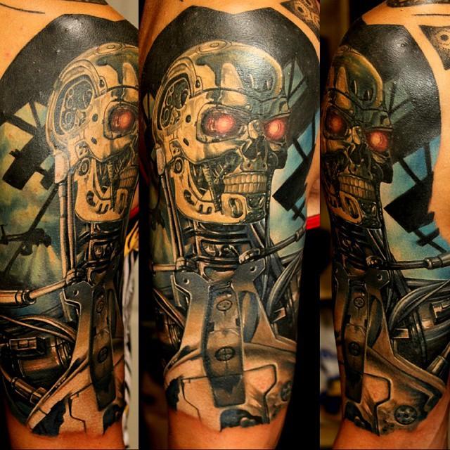 Terminator Tattoo on Shoulder