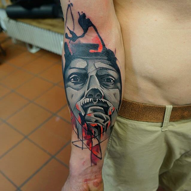 Thinking Face on Arm