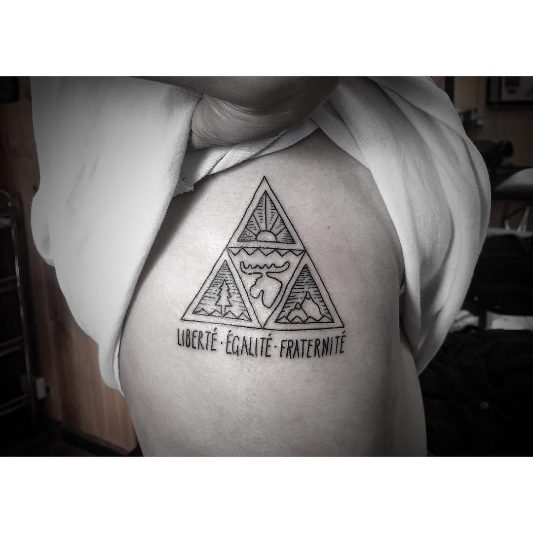 Triangle of Nature Tattoo