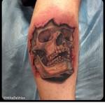 3D Arm Tattoo Skull