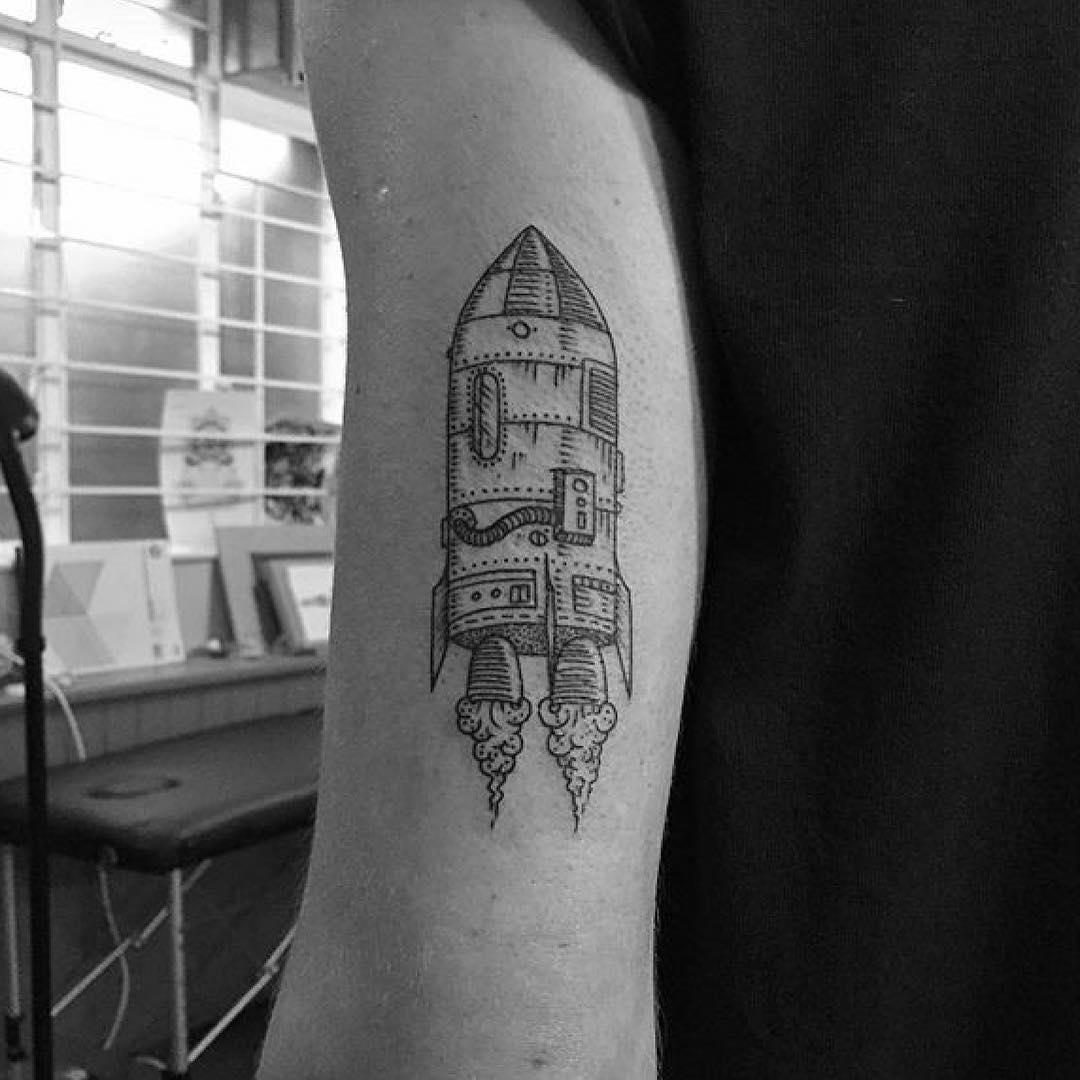 Arm Rocket Tattoo