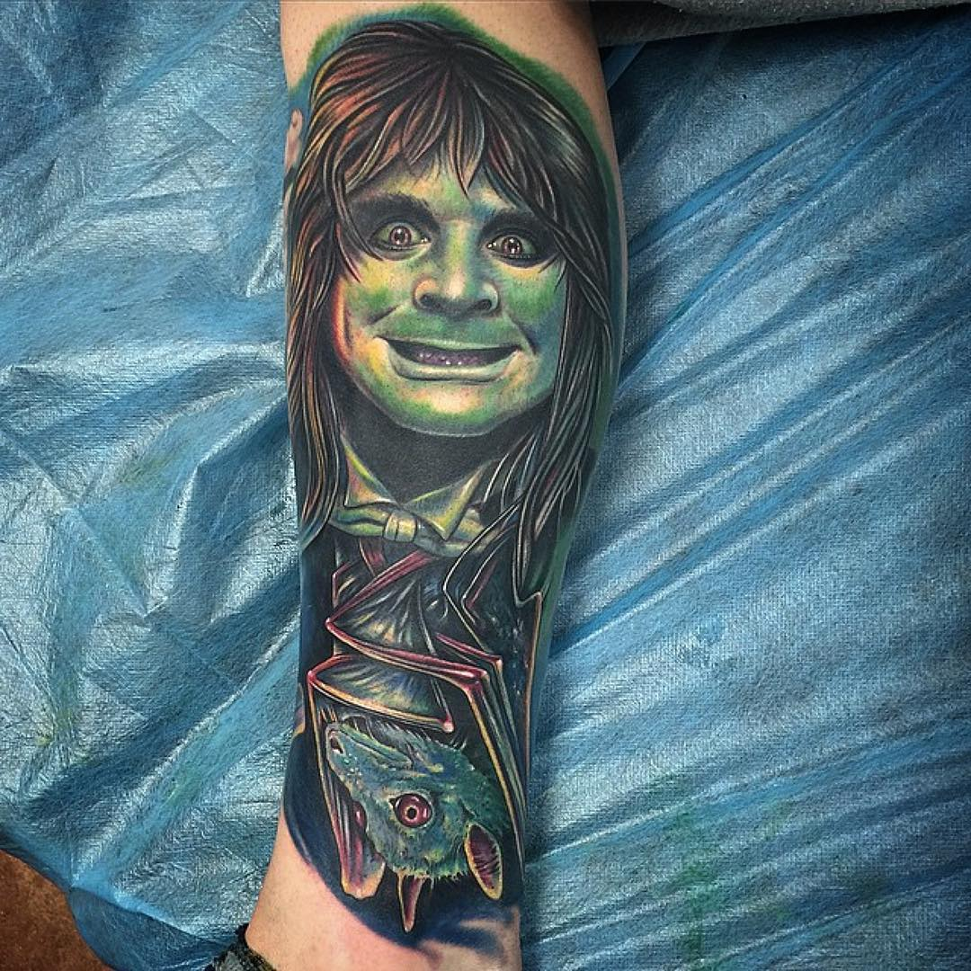 Bat Ozzy Tattoo