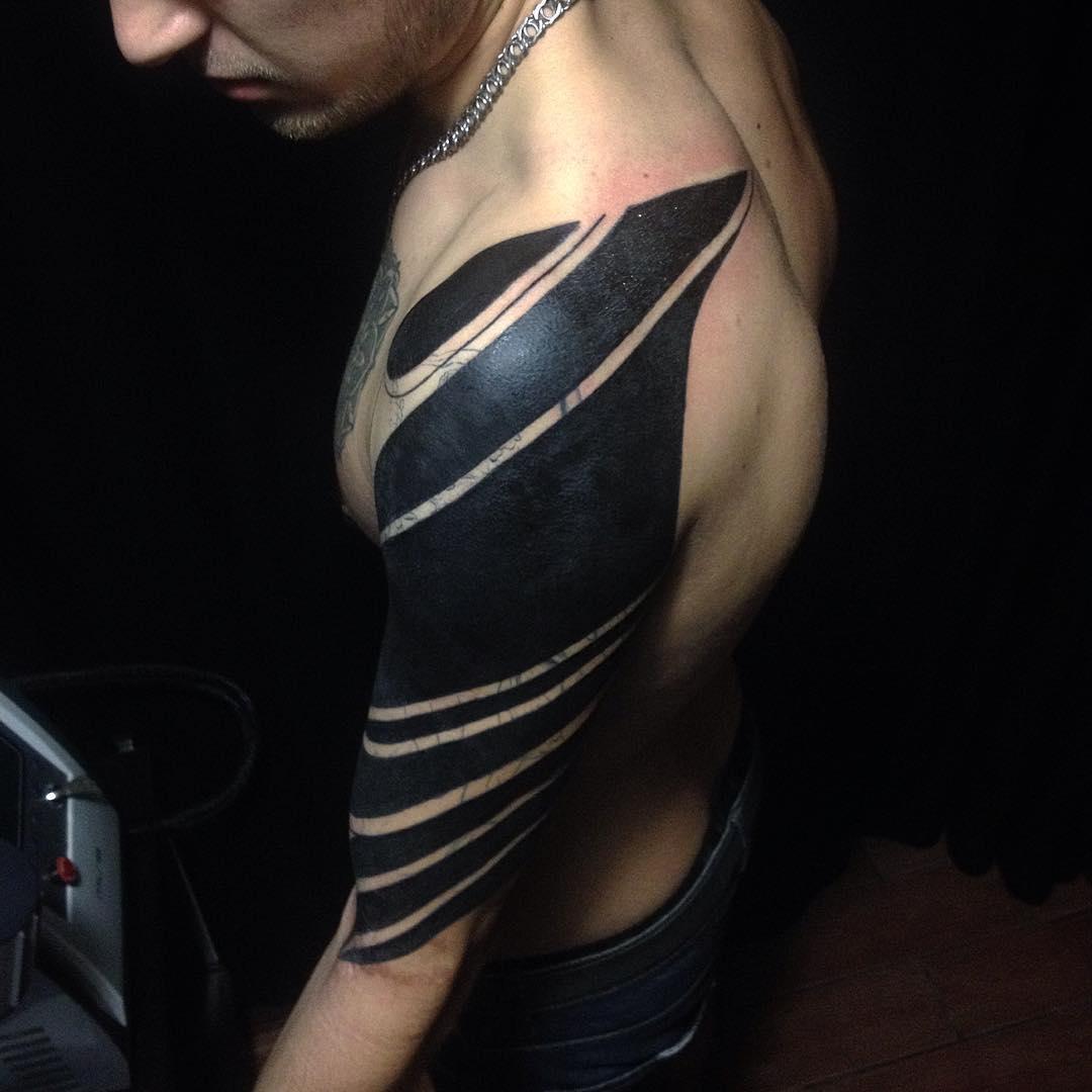 Blackwork Shoulder Tattoo