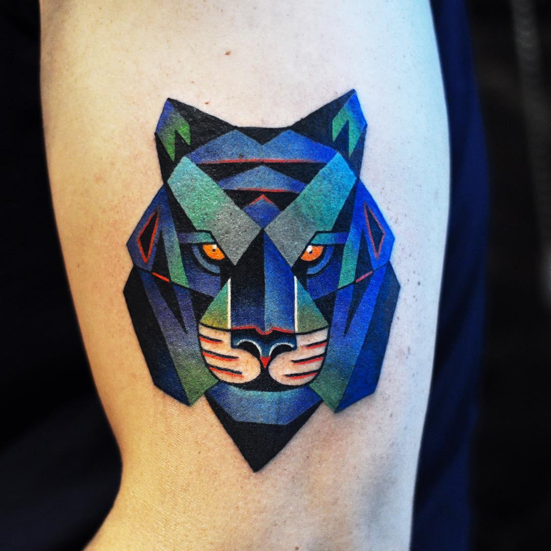 Blue Tiger Tattoo