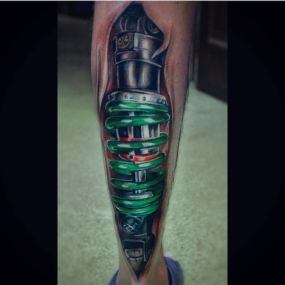 Calf Spring Biomechanical Tattoo