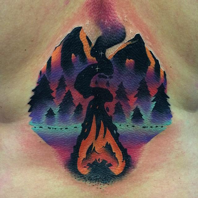 Camp Fire Tattoo