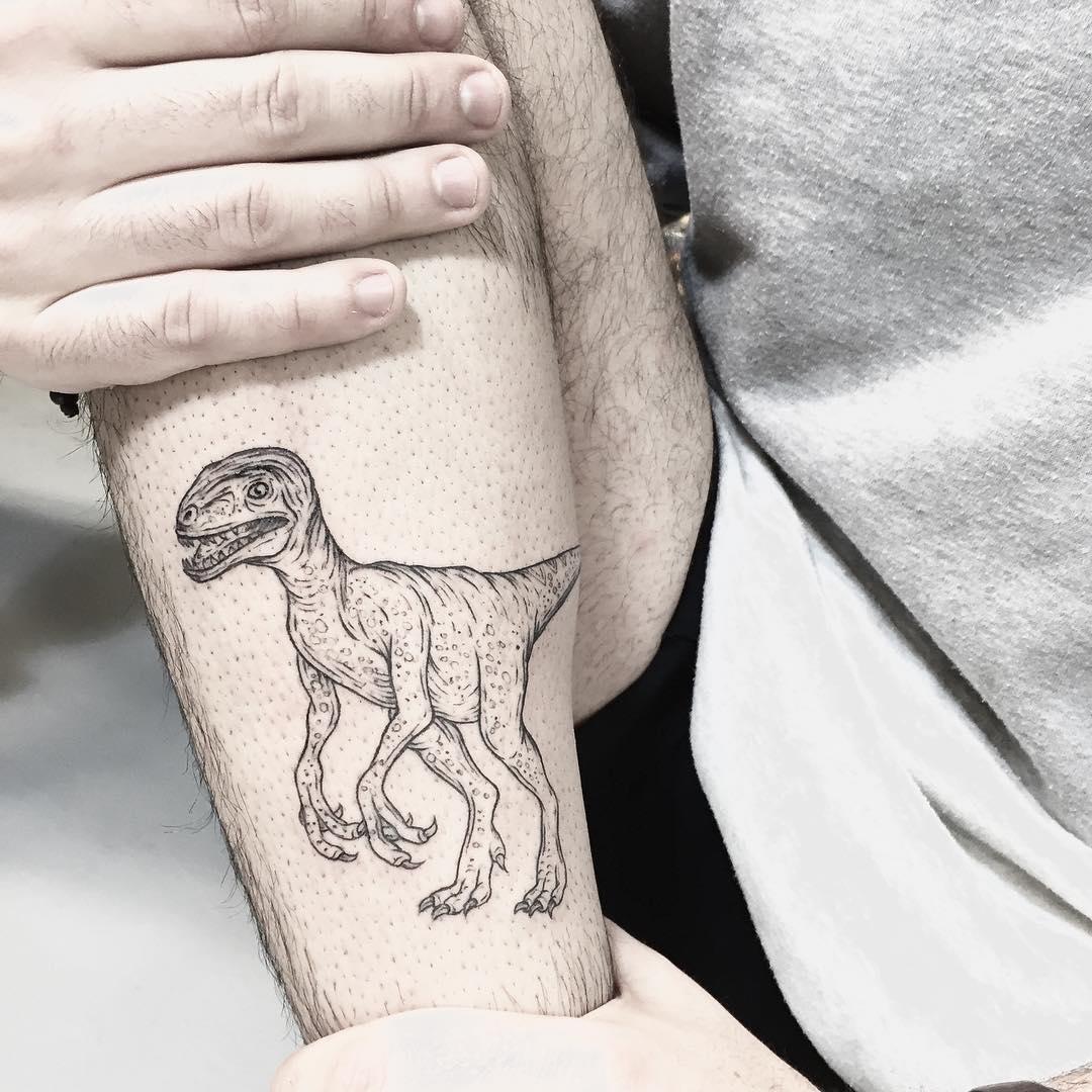 Dinosaur Tattoo on Arm