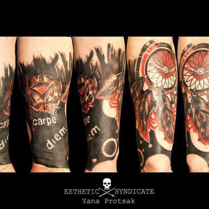 Dream Catcher Carpe Diem Tattoo