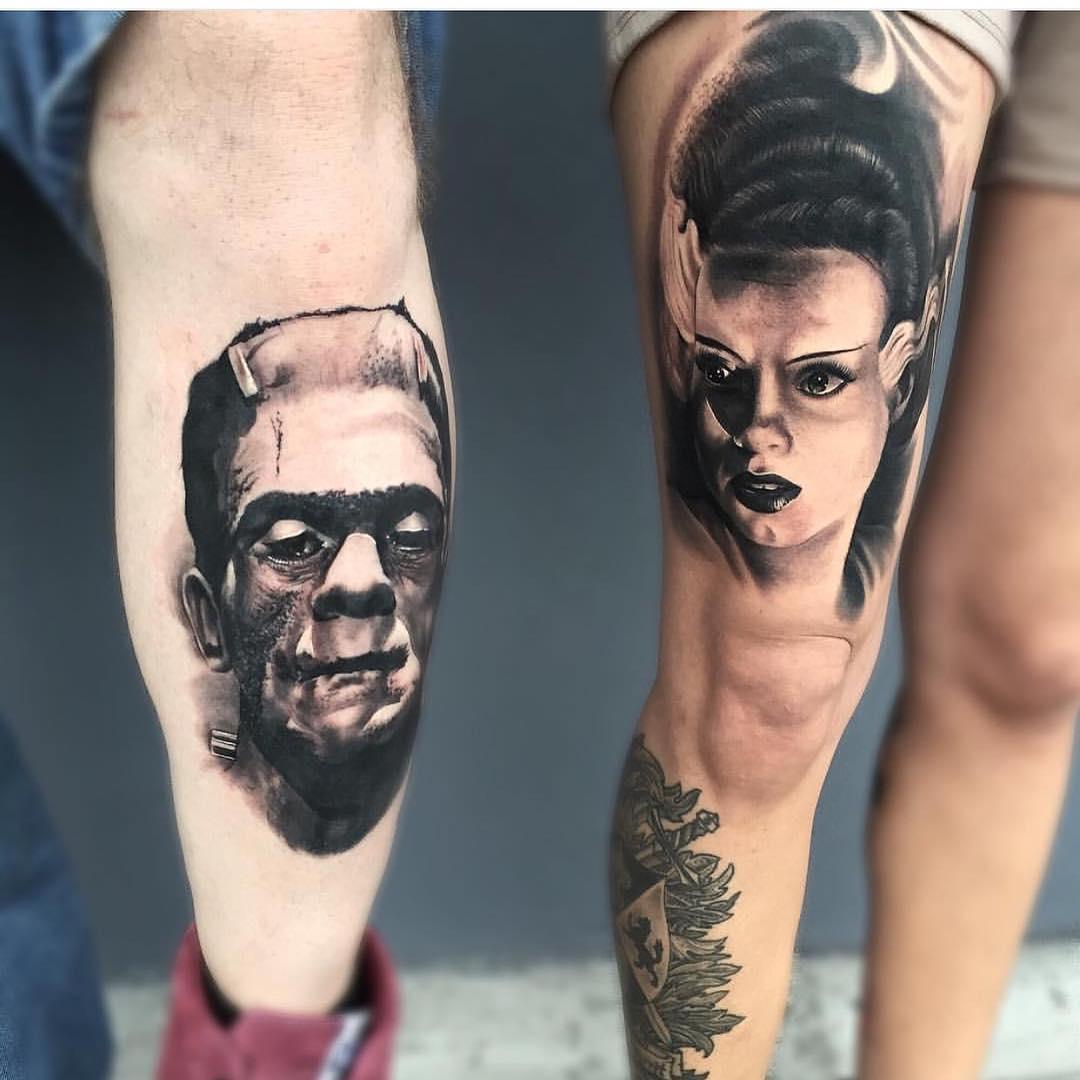 Frankenstein Couple Tattoo