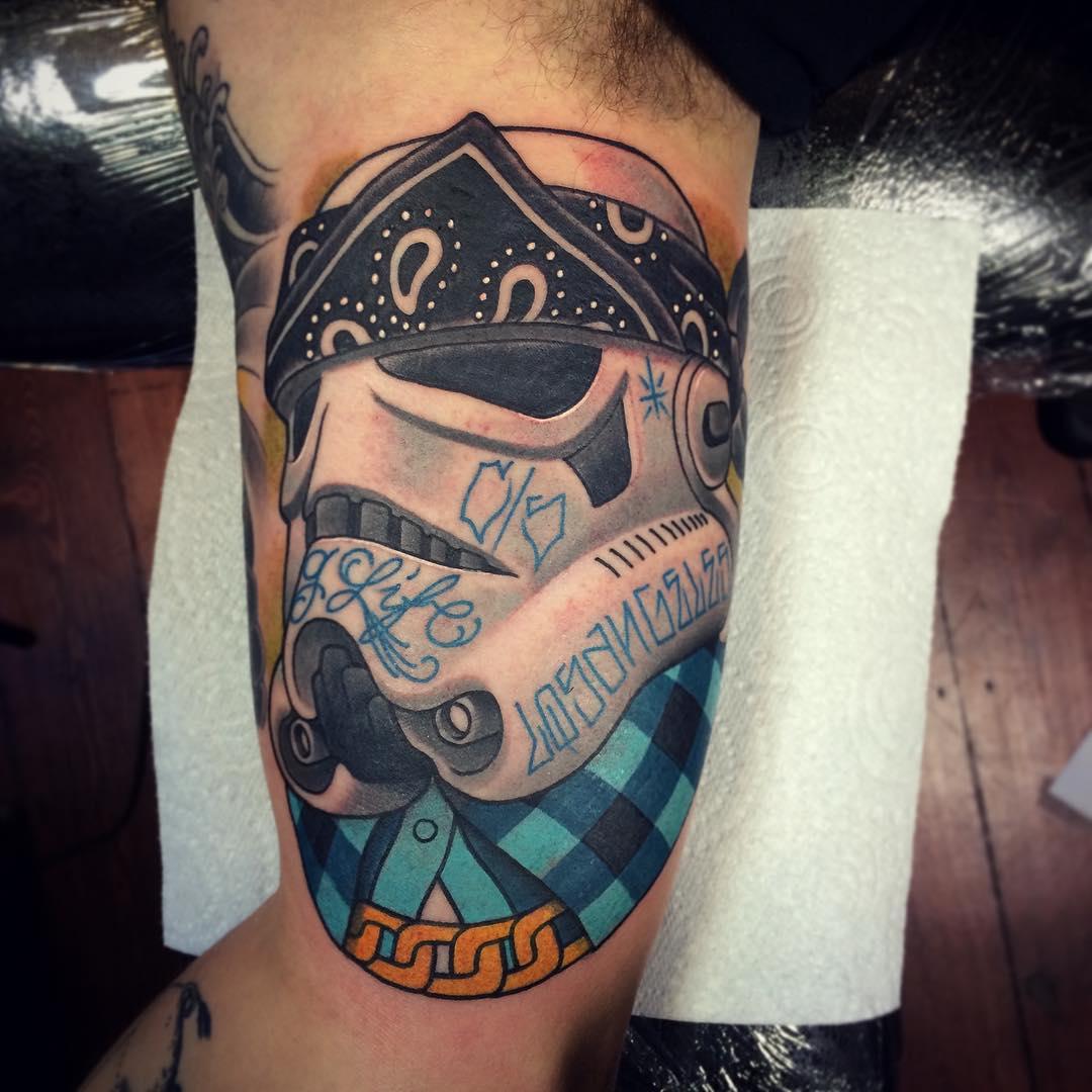 Gangsta Star Wars Trooper Tattoo