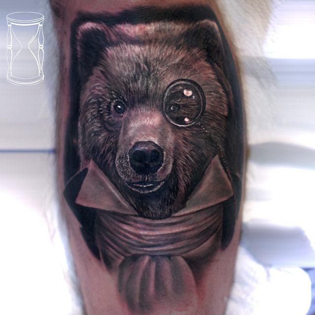 Gentleman Bear Tattoo