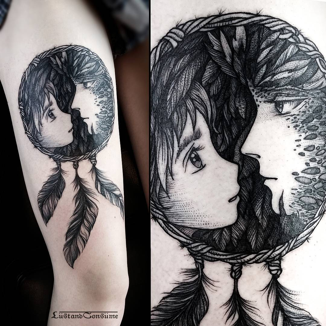 Love Dreamcatcher Tattoo