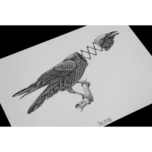 Mechanical Eagle Tattoo Idea
