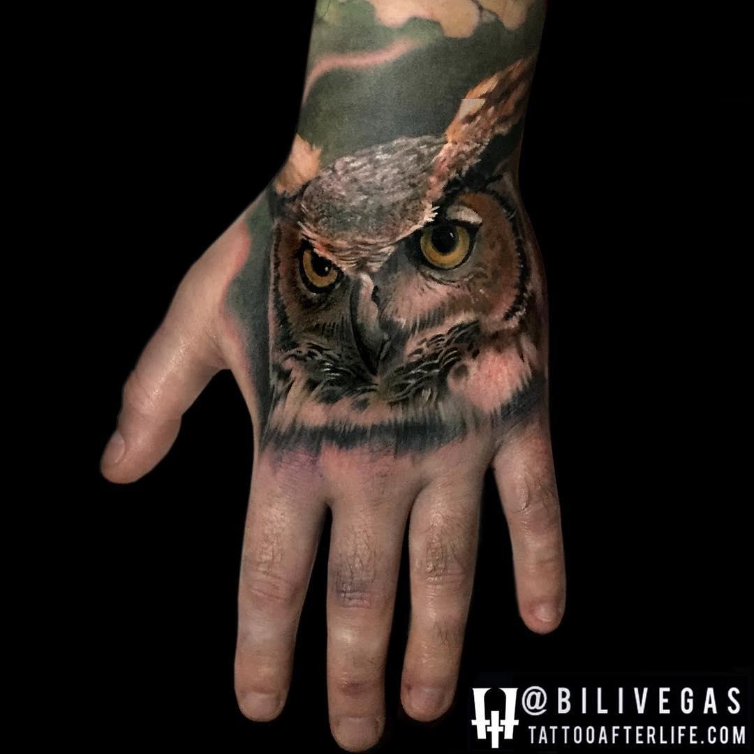 Owl Tattoo Hand