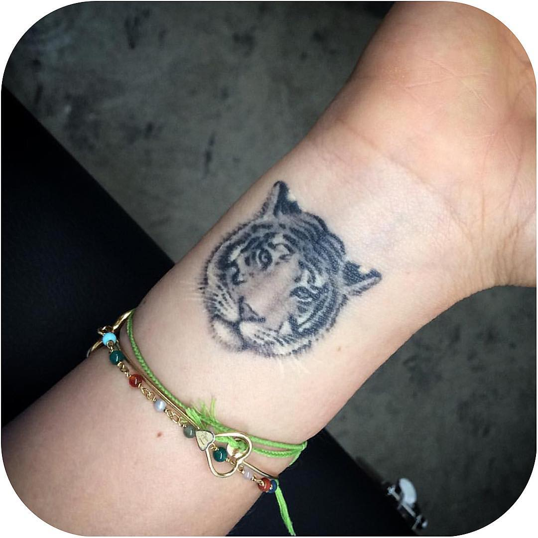 Tiger Wrist Tattoo
