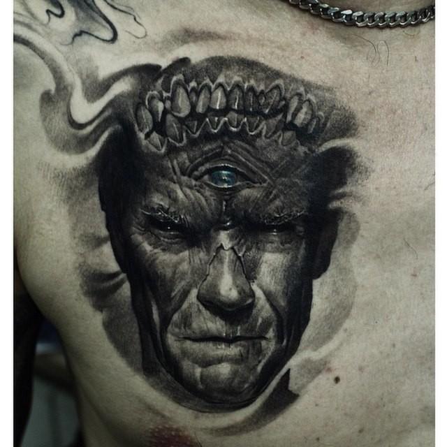 3D Portrait Tattoo